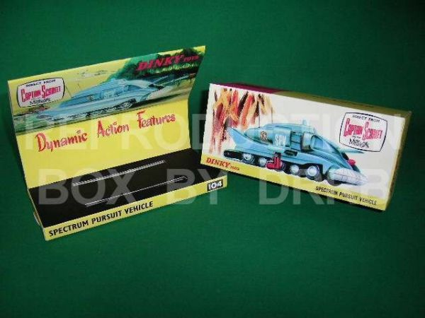 Dinky #104 Spectrum Pursuit Vehicle - Reproduction Box